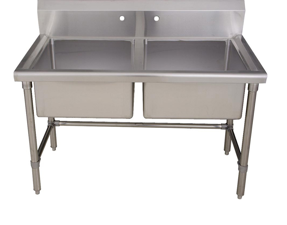 Utility Sink Stainless Steel Freestanding : Double Bowl Freestanding Laundry Utility Sink Brushed Stainless Steel ...
