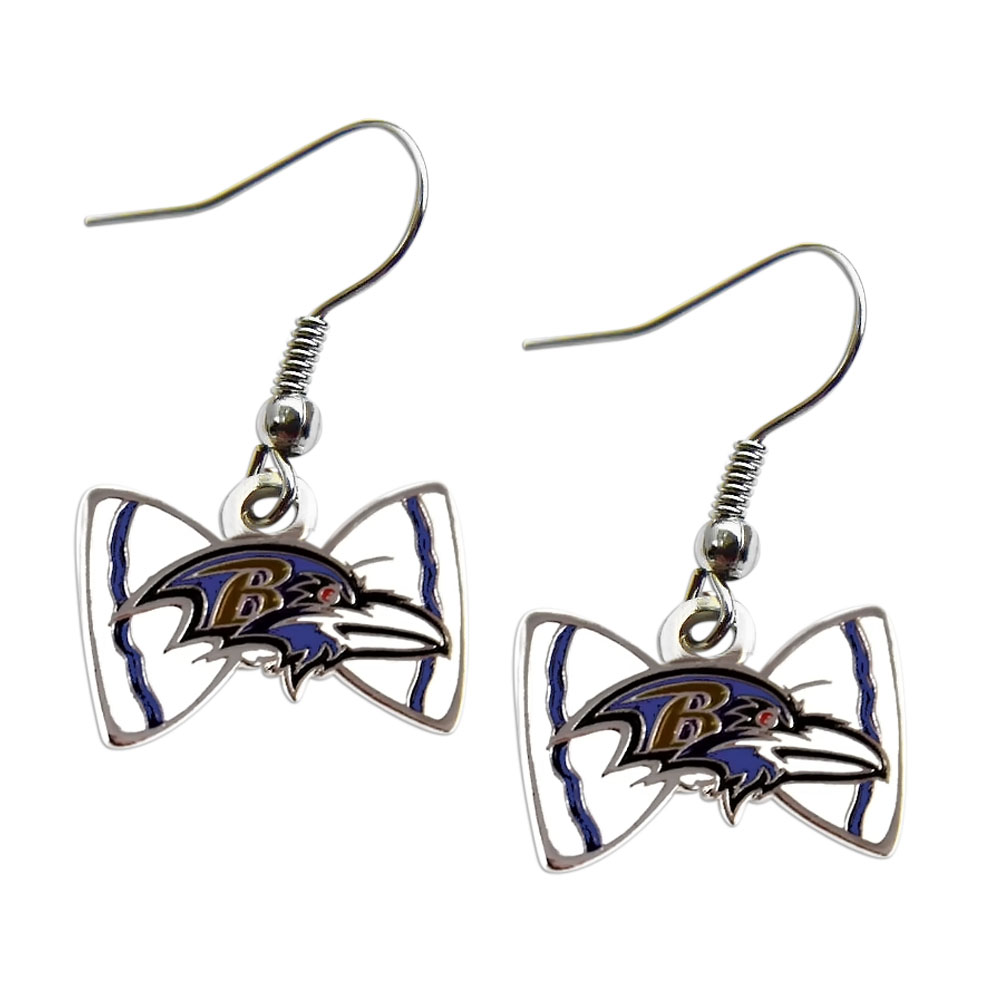 Aminco NFL Baltimore Ravens Bow Tie Earring Dangle Charm Gift Set at Sears.com