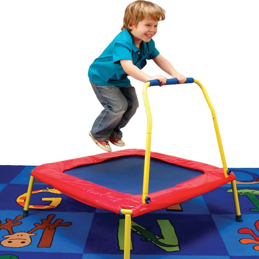 Jumpsport Handle Bar For Trampolines: Busy Bouncer Jumper Kids Outdoor Indoor Trampoline Square