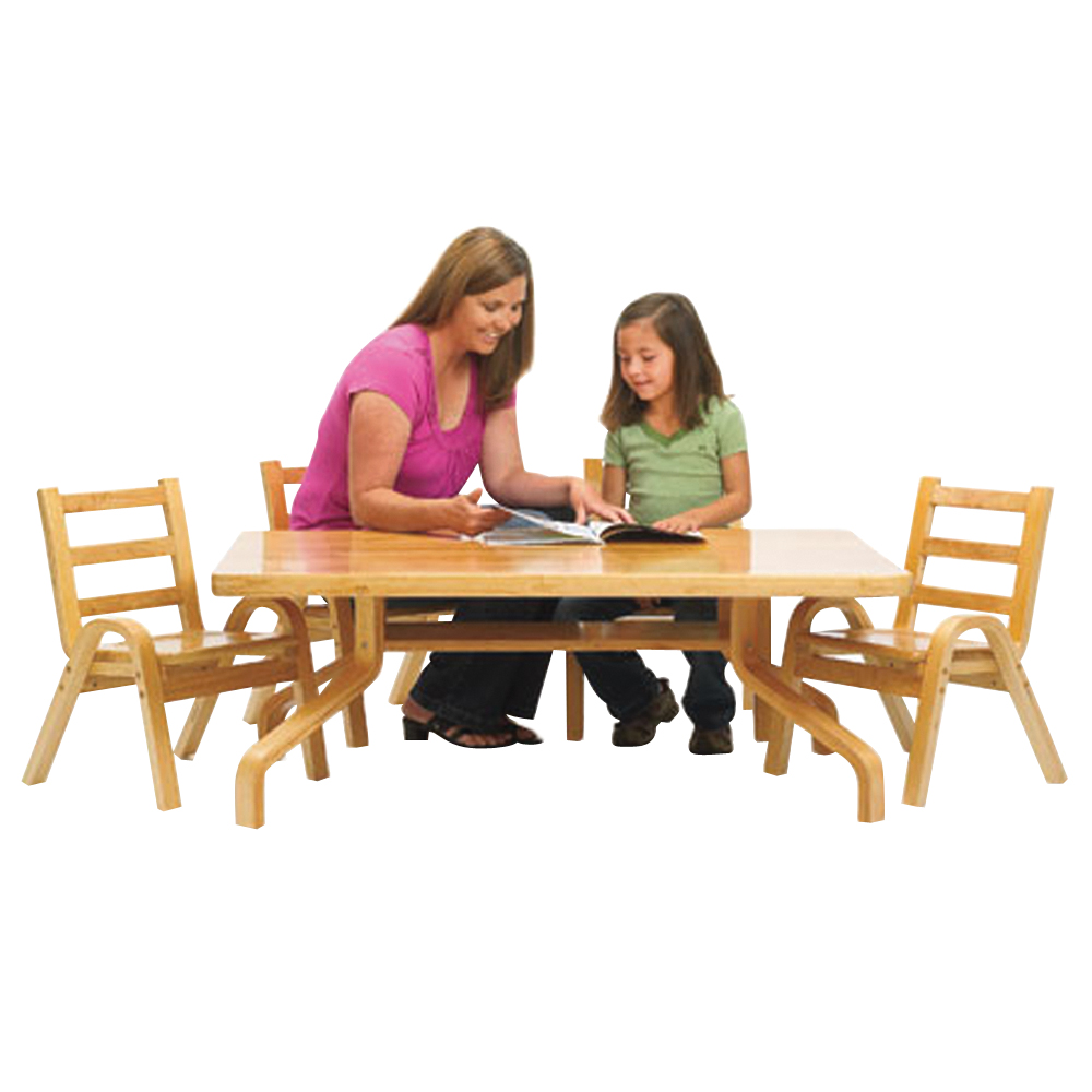 Angelesnaturalwood Square Preschool Table Chair Set Collection