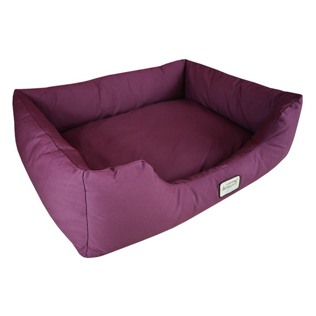 Armarkat Canvas With Waterproof Medium Dog Sleeper Bed Burgundy at Sears.com