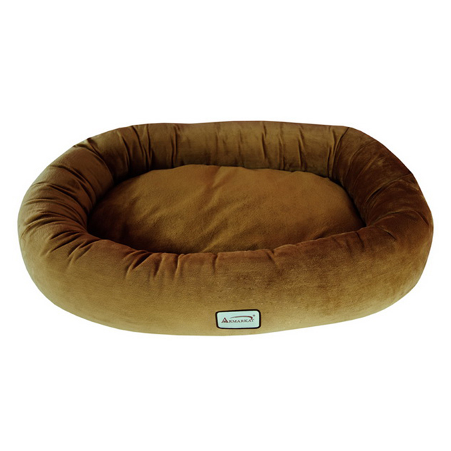 Armarkat Soft Velvet With Waterproof Dog Sleeper Bed Medium Brown at Sears.com