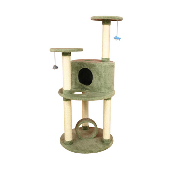 "Armarkat 60"" Ultra Thick Faux Fur Premium Condo House Pet Cat Tower Tree Furniture Dark Sea Green at Sears.com"