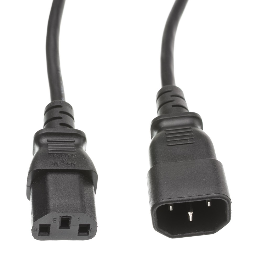 Offex Computer / Monitor Power Extension Cord, Black, C13 to C14, 10 Amp, UL / CSA rated, 6 foot