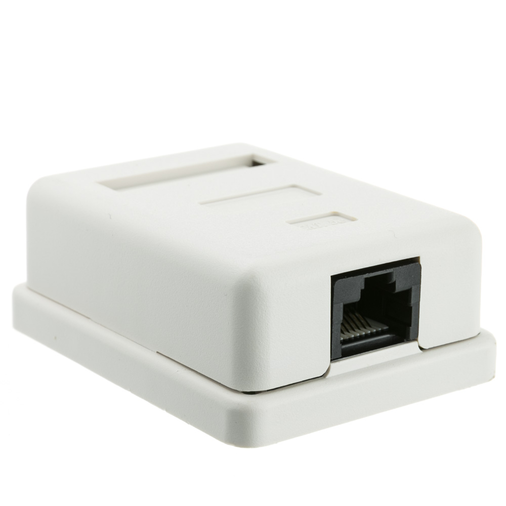 Offex Cat 5e Single Surface Mount Box, Unshielded