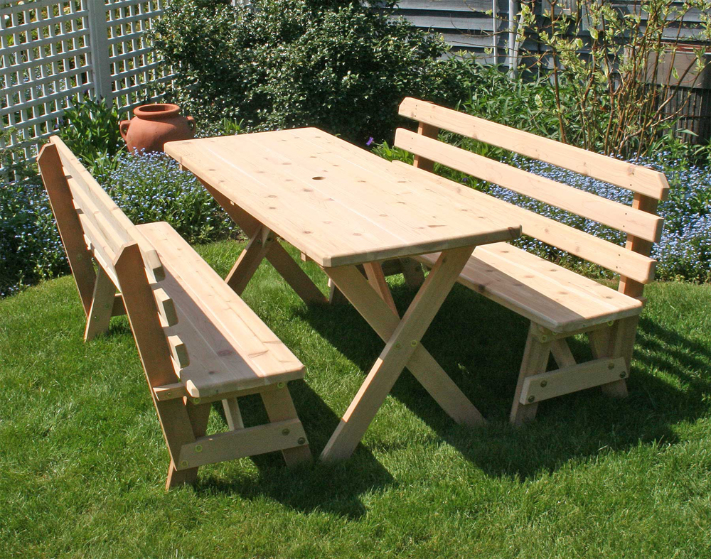 Picnic Table Detached Benches