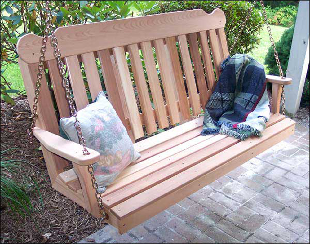 Creekvine Outdoor Patio Garden 4' Cedar Classic Porch Swing
