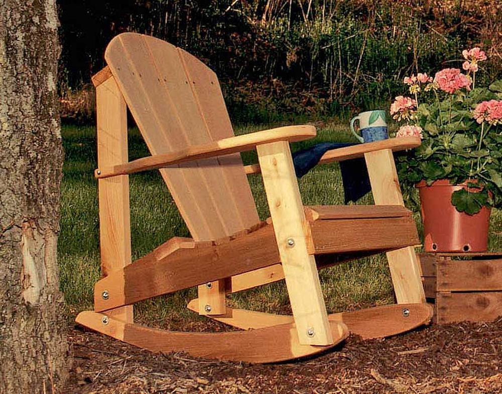 Creekvine Home Outdoor Cedar Adirondack Rocking Chair