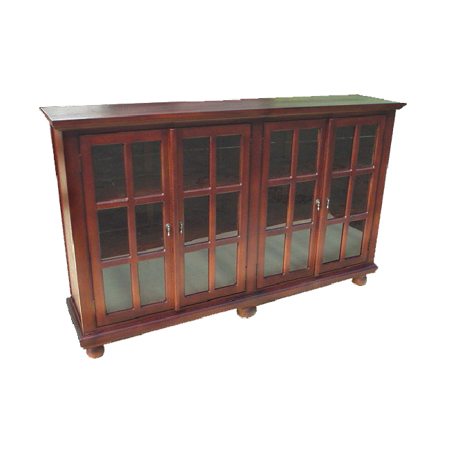 D art home office library solid wood console bookcase