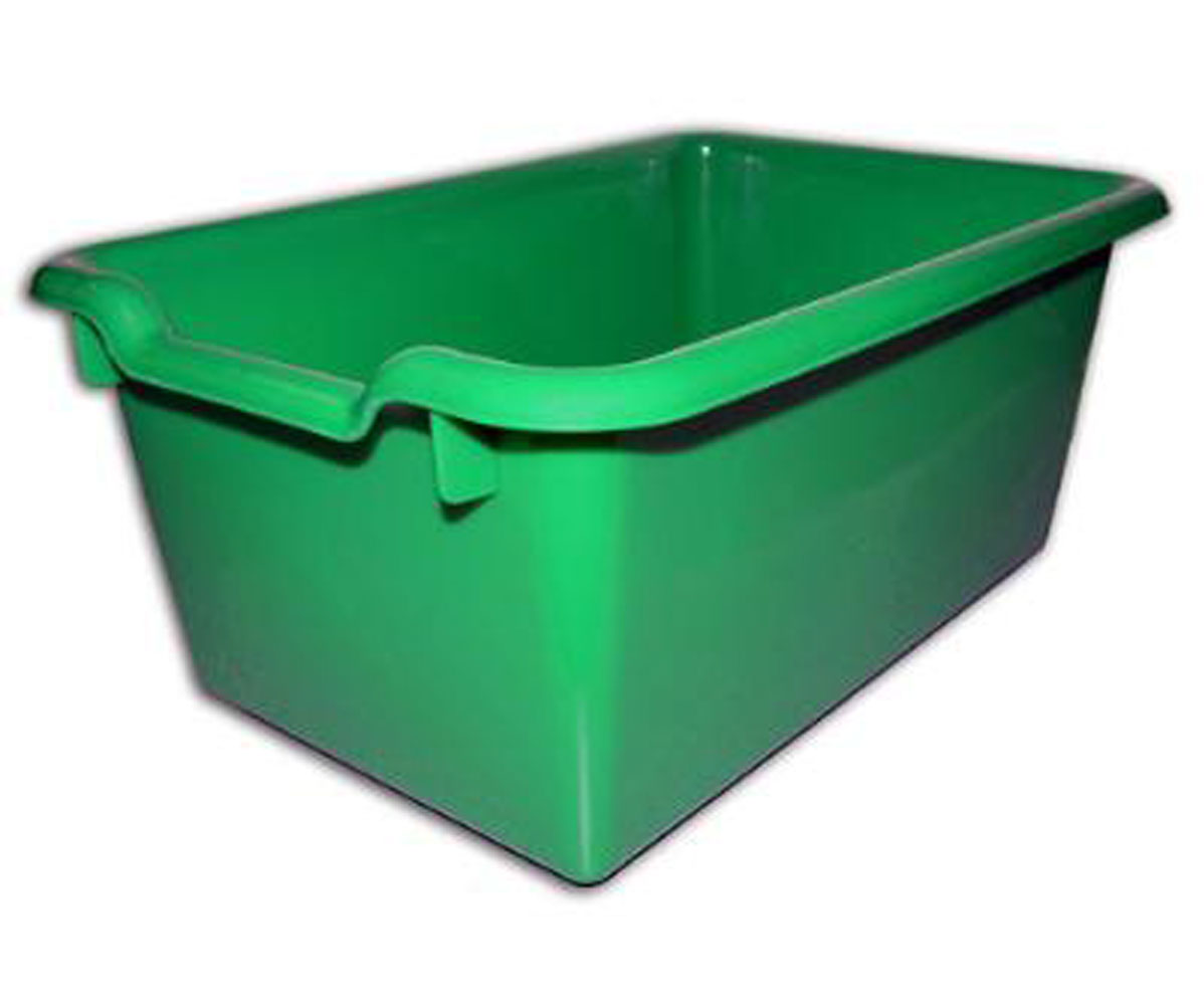 Ecr4Kids 10-Pack Durable, Versatile And Sturdy Scoop-Front Plastic Tote/Storage Bins - Green - 10 Pack at Sears.com