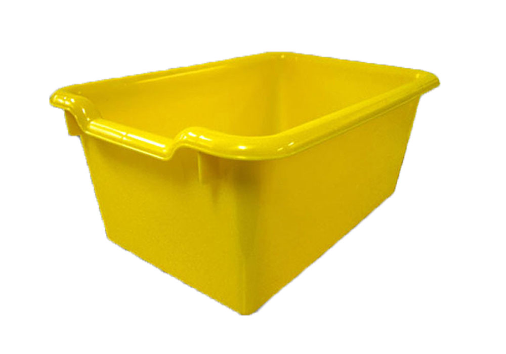 Ecr4Kids Durable, Versatile And Sturdy Scoop-Front Plastic Tote/Storage Bins - Yellow - 10 Pack at Sears.com