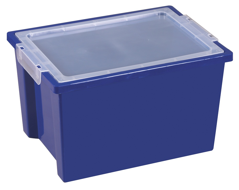 Ecr4kids Kids Arts Crafts Large Storage Plastic Bins with Lid Blue - 20 pack at Sears.com
