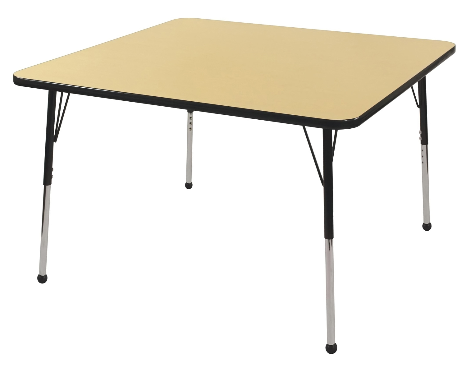 Kids Adjustable Square Classroom Preschool 30 Activity Table Maple