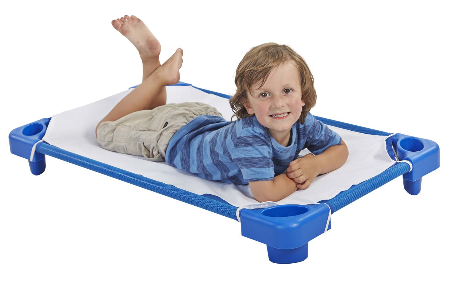 Dropship Home Decor Offex Stackable Standard Kiddie Nap Plastic Cot For Kids
