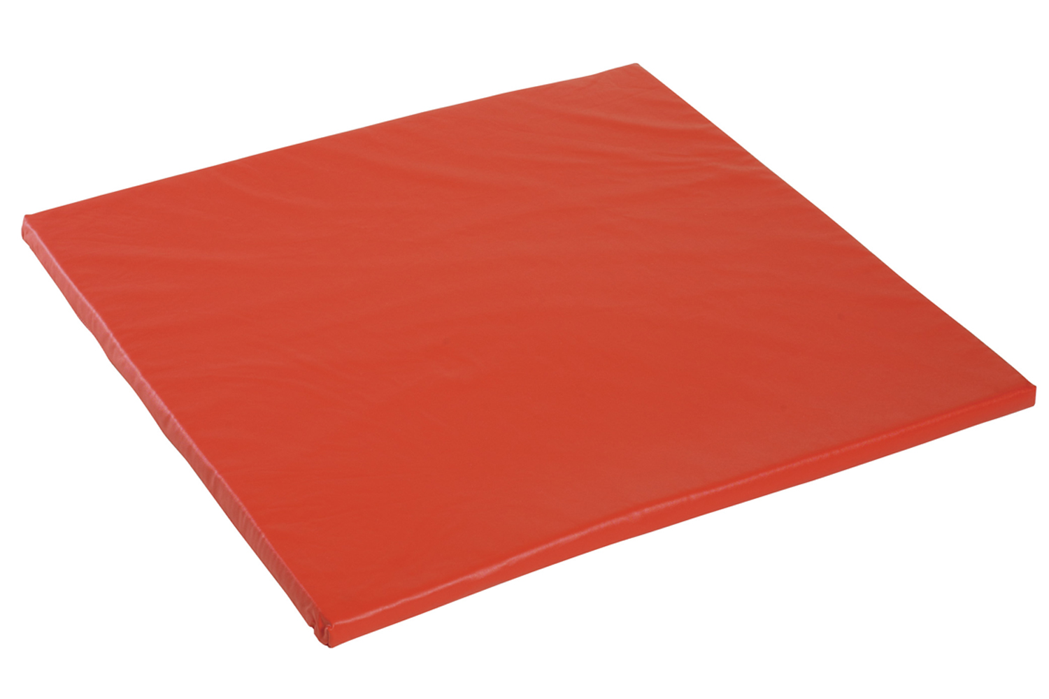Offex Easy-To-Clean Waterproof Square Playhouse Cube Mat - Red
