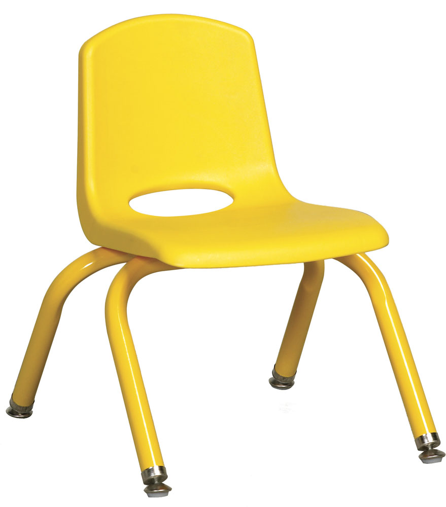 "Ecr4Kids PreSchool/ClassRoom 10"" Plastic Stack Chair W/ Matching Legs - Yellow at Sears.com"