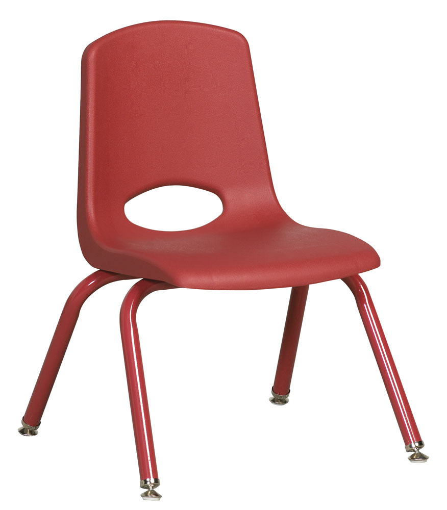 Ecr4Kids 12 In School Stack Chair Matching Powder Coated Legs - Red at Sears.com