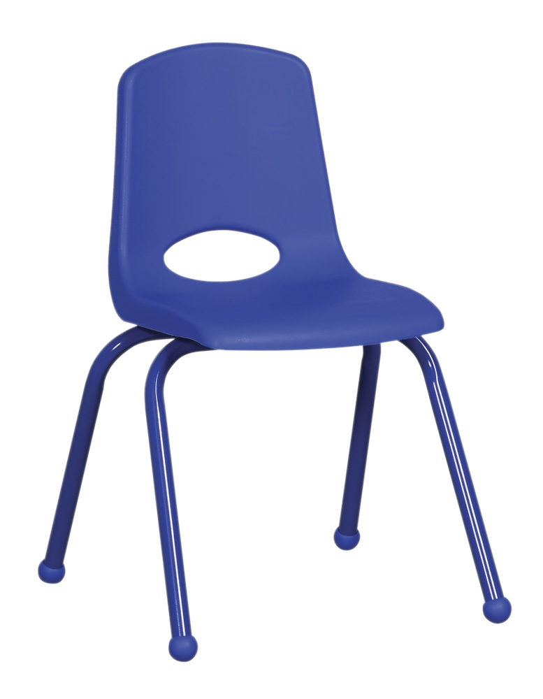 Ecr4Kids 16 In School Stack Chair  Matching PowderCoated Legs - Blue with Glide at Sears.com
