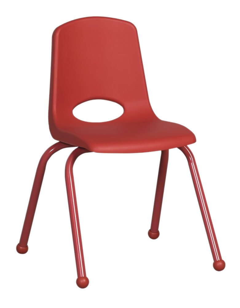 Ecr4Kids 16 In School Stack Chair  Matching Powder Coated Legs - Red with Glide at Sears.com