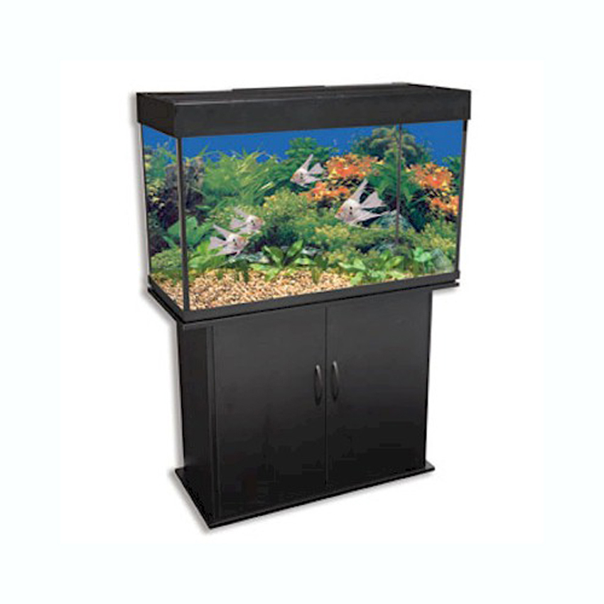 Delta queen ii 46 gallon black rectangular fish tank for Rectangle fish tank
