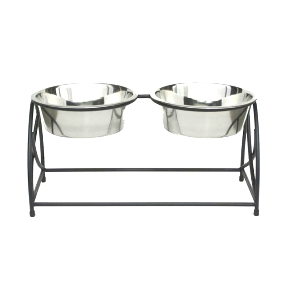 Butterfly Rounded Double Elevated Stainless Steel Bowls