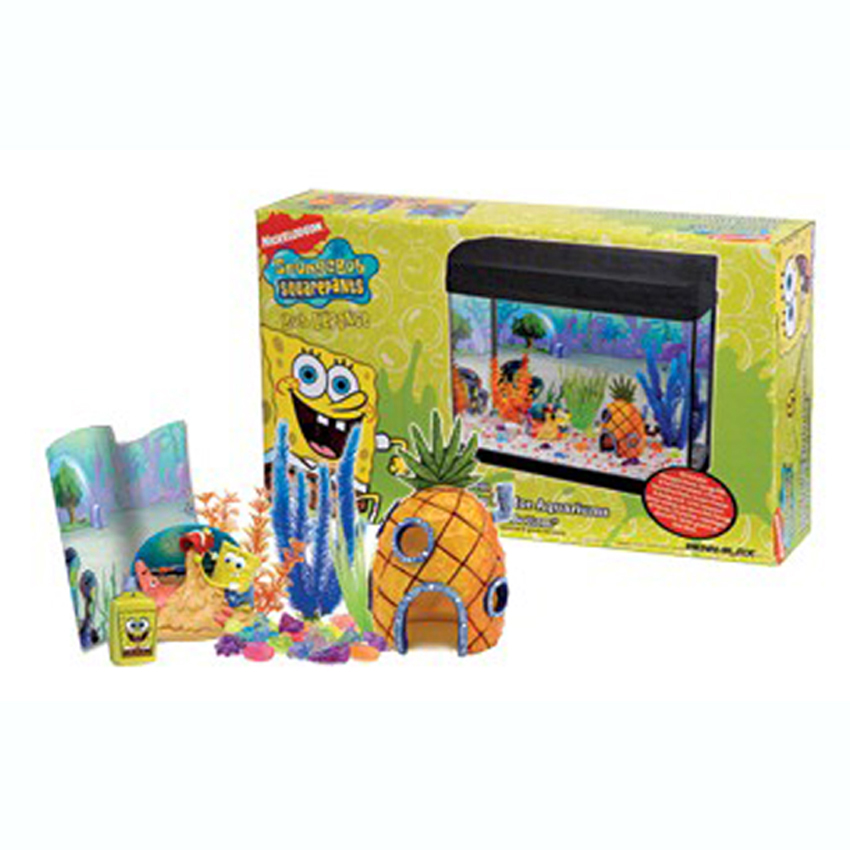Spongebob squarepants fish tank aquarium ornament for Aquarium decoration kits