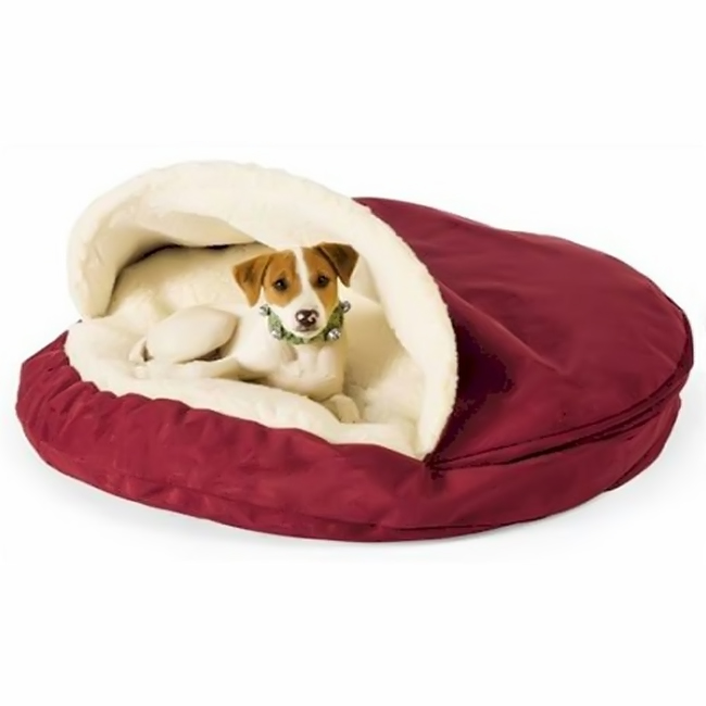Snoozer luxury cozy cave nesting pet dog bed small - Designer pet beds small dogs ...