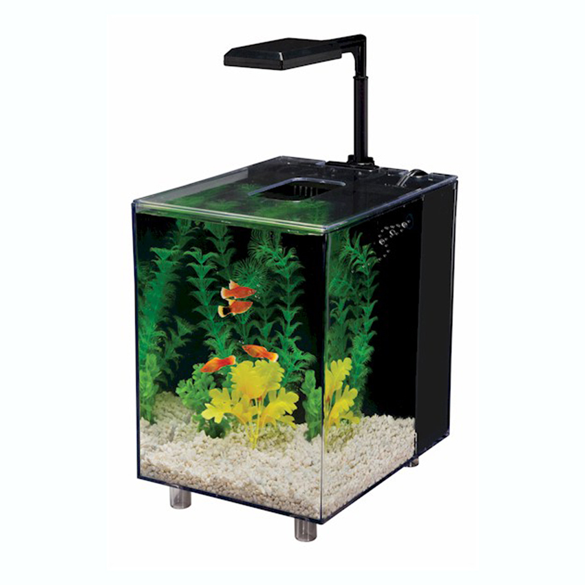 prism nano 2 gallon aquarium fish tank kit with 18 bulb