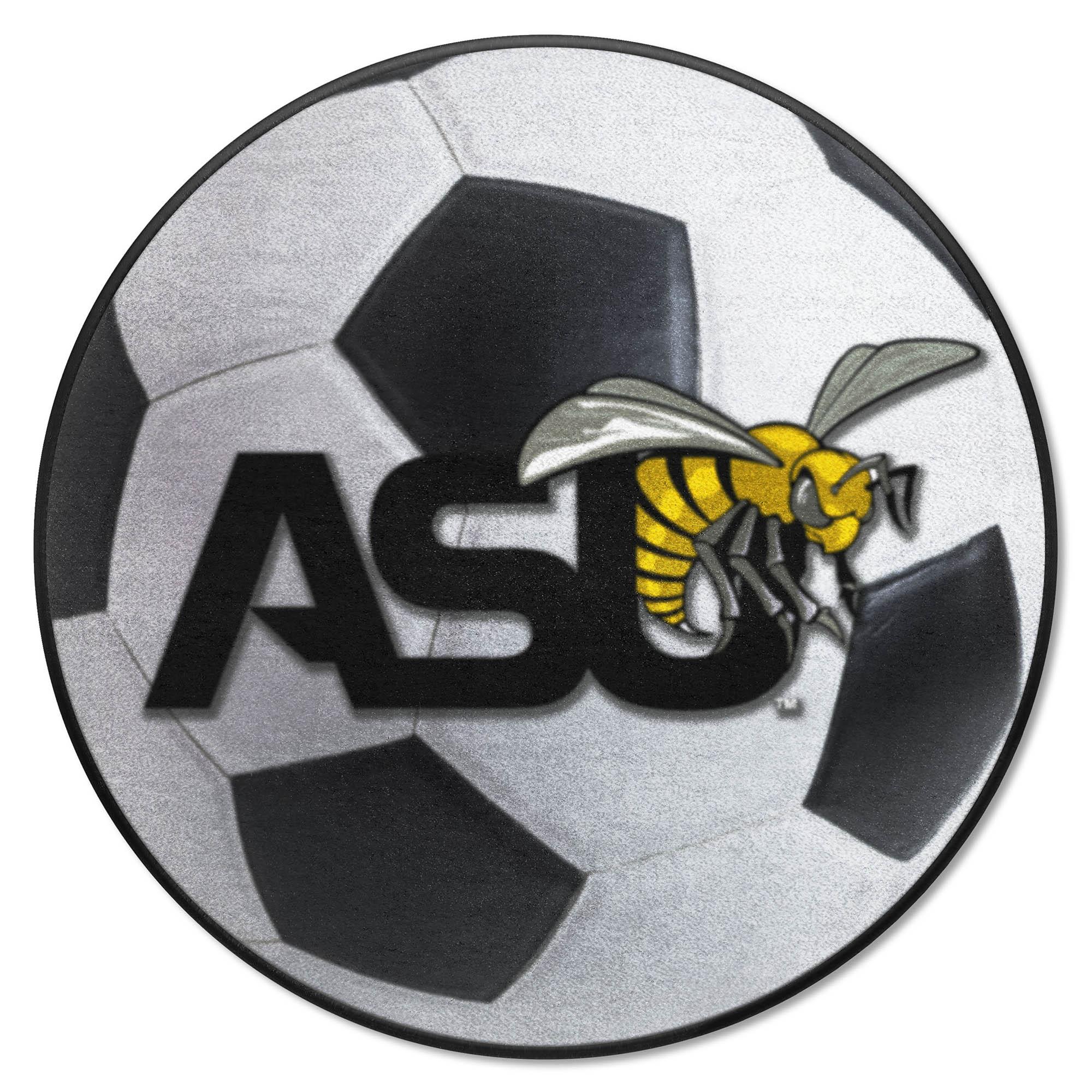Fanmats Alabama State University Sports Team Logo Nylon Carpet Soccer Ball Shaped Indoor Home Decor Floor Area Rug