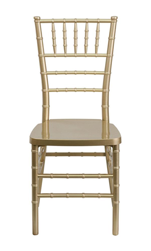 Offex HERCULES PREMIUM Series Gold Resin Stacking Chiavari Chair