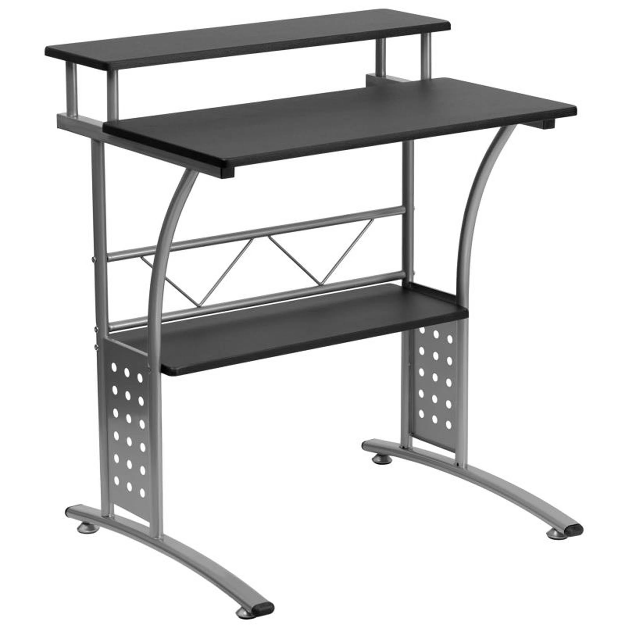 Offex NAN-CLIFTON-BK-GG Clifton Black Computer Desk