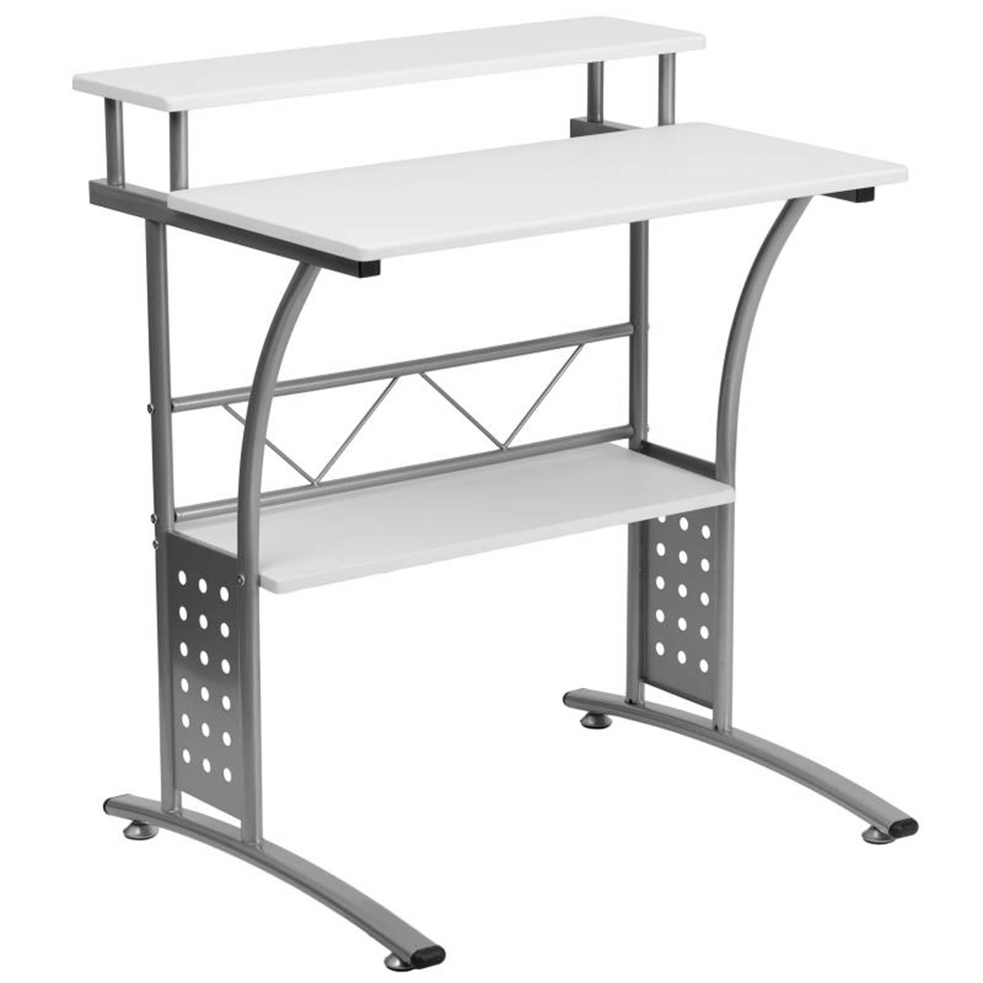 Offex NAN-CLIFTON-WH-GG Clifton White Computer Desk