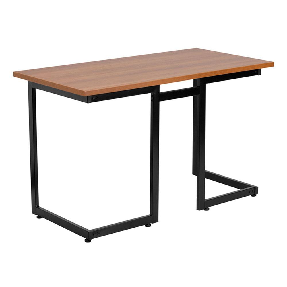 Offex NAN-JN-2811-GG Cherry Computer Desk with Black Frame