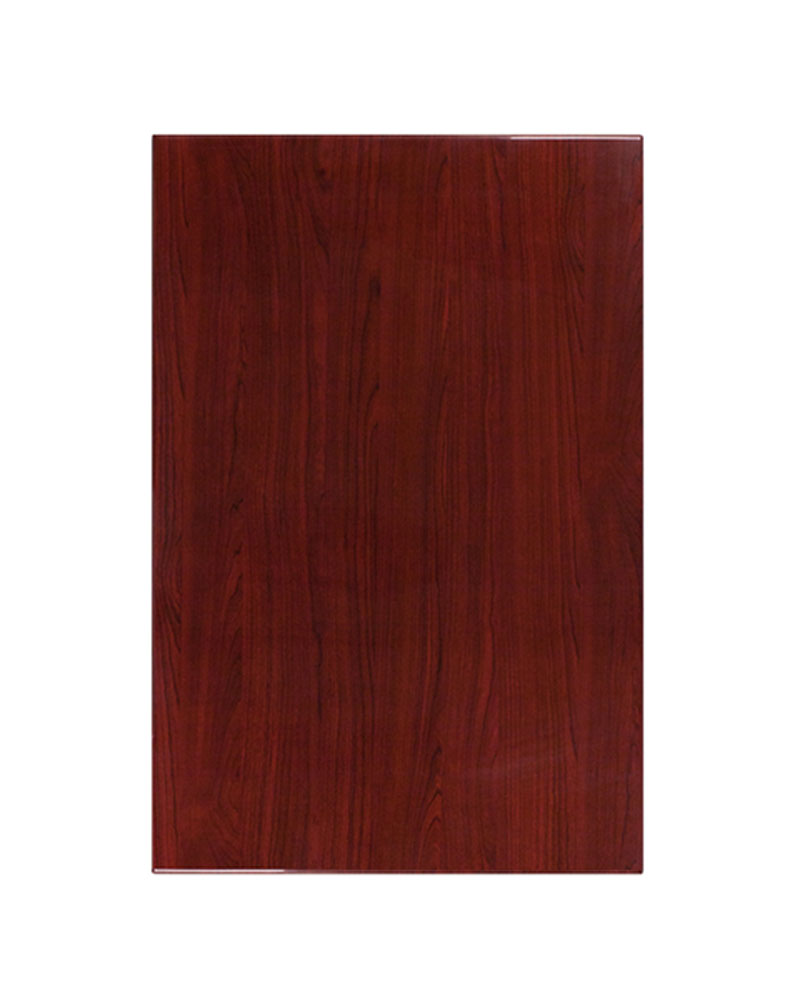 Offex 30'' x 45'' Rectangular Resin Restaurant Mahogany Table Top