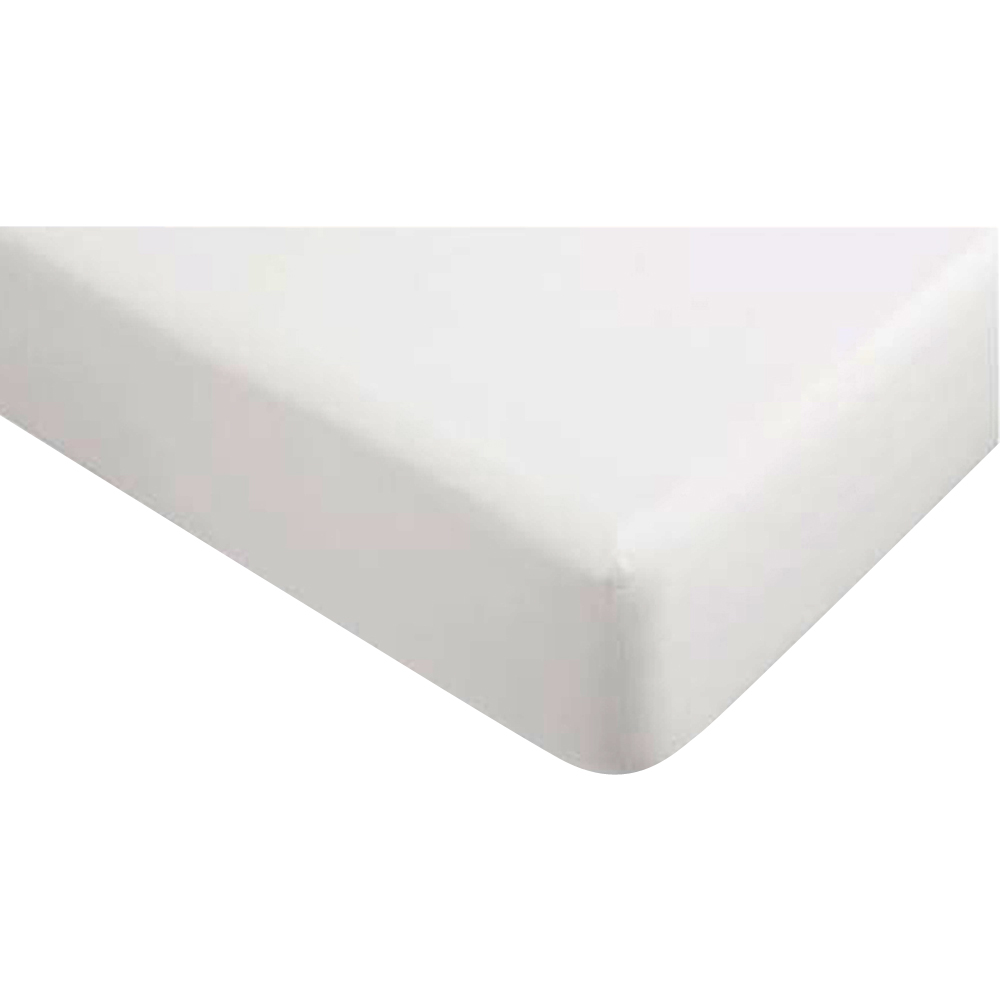 """Gotcha Covered Gotcha The Luxe Collection Cotton Sateen Fitted Sheet with Smarty-BandZz Extra Deep Profile Upto 22"""" Queen White"""