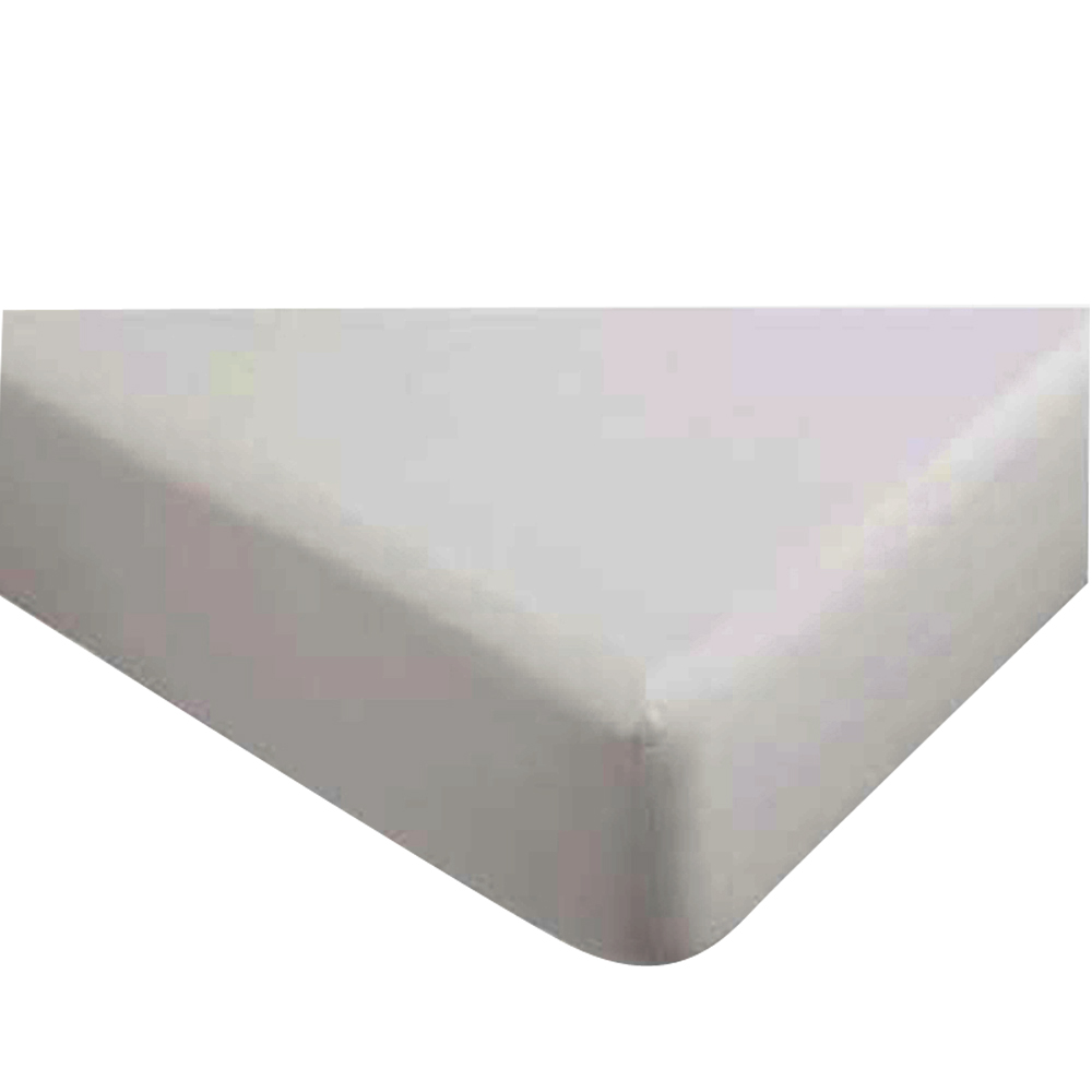 """Gotcha Covered The Classic Collection Cotton Percale Fitted Sheet Low Profile Up to 11"""" Cal King White"""