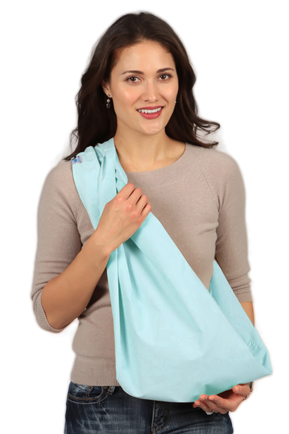 HugaMonkey Baby Sling Carrier for Newborn Babies, Infants and Toddlers - Aqua, Small