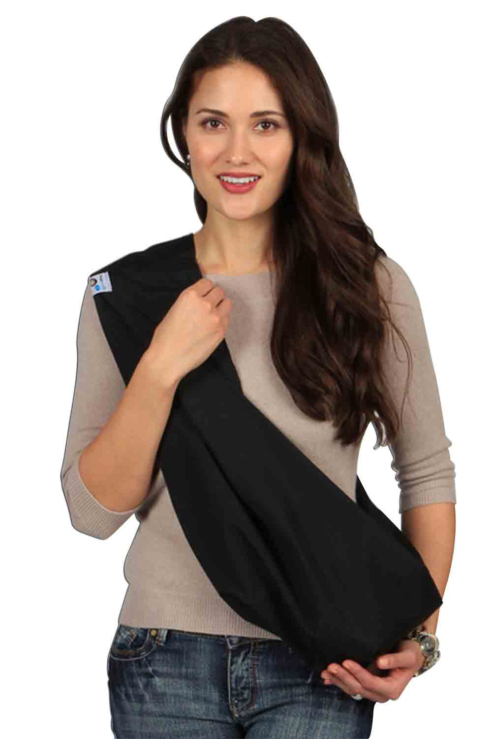HugaMonkey Black Baby Sling - Medium
