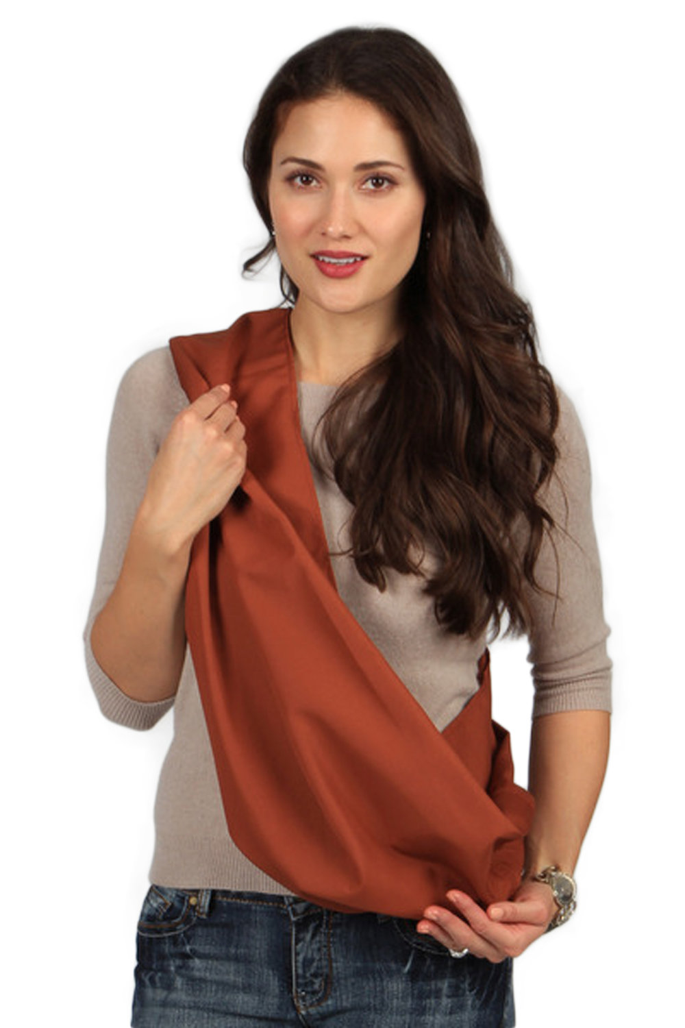 HugaMonkey Burnt Orange Baby Sling - Small