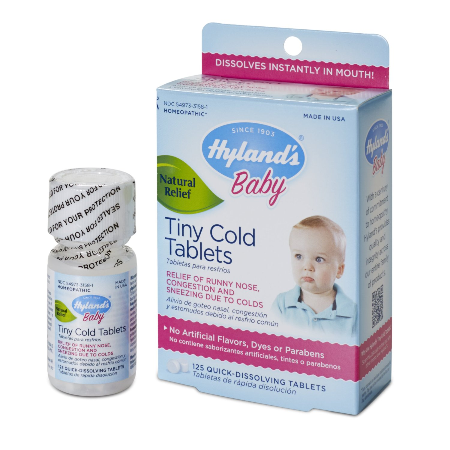 Hyland's Homeopathic Baby Tiny Cold Tablets, 125 Count
