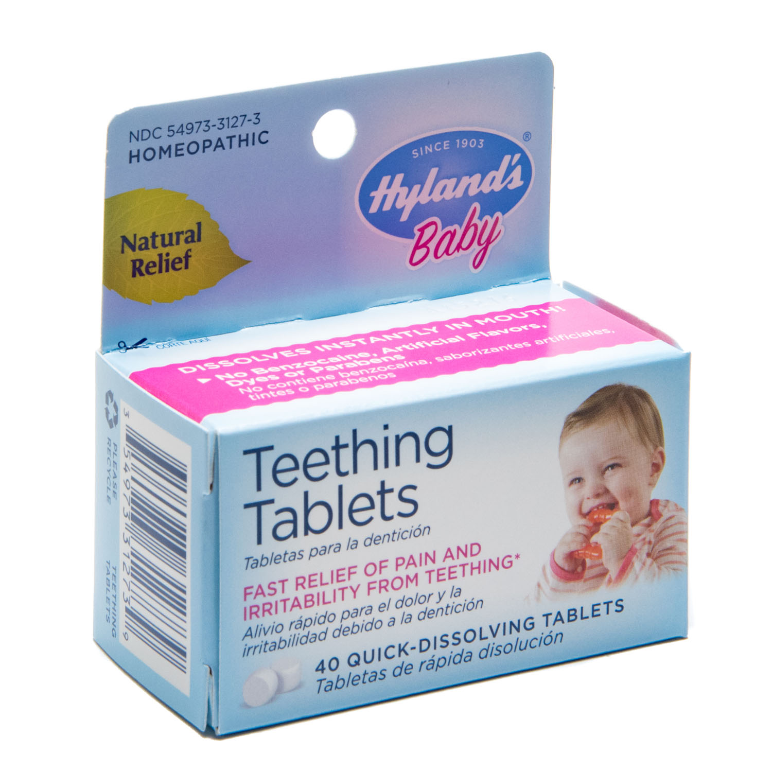 Hyland's Homeopathic Baby Natural Relief Teething Tablets ...