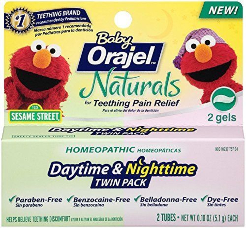 Baby Orajel Naturals Daytime & Nighttime Teething Gel Twin Pack - 0.18 Oz