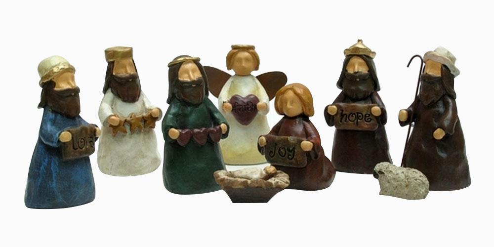 Iwgac Home Indoor Outdoor Office Christmas Decor Mini Nativity Nine Piece Set at Sears.com