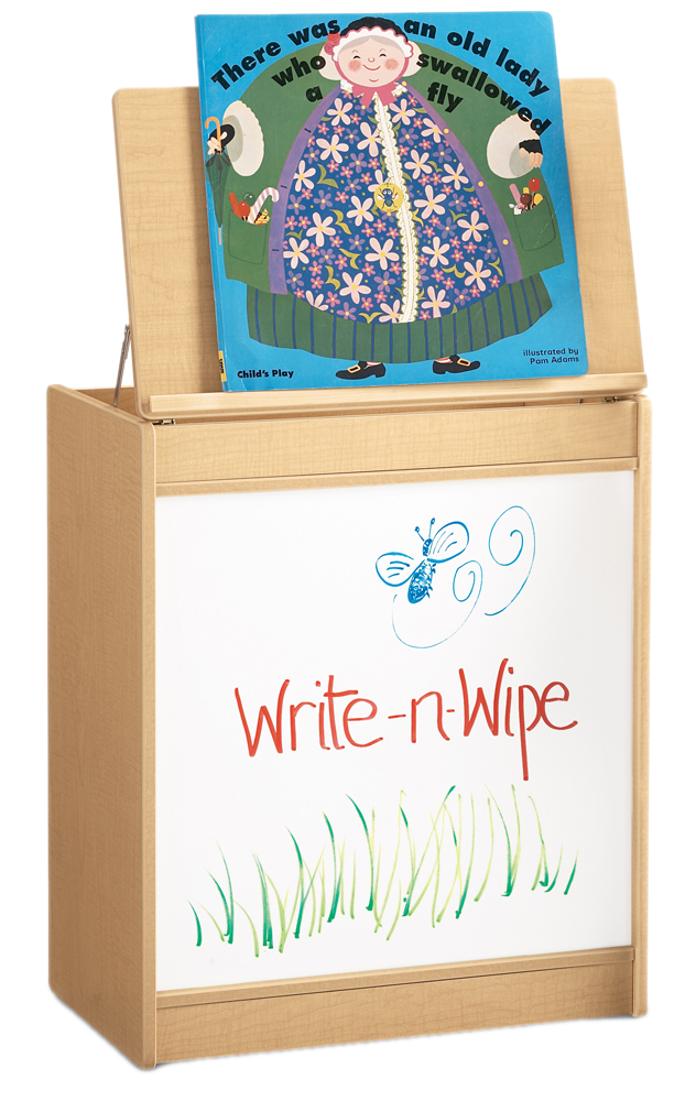 Offex Kids Big Book Easel with Write-n-Wipe Board