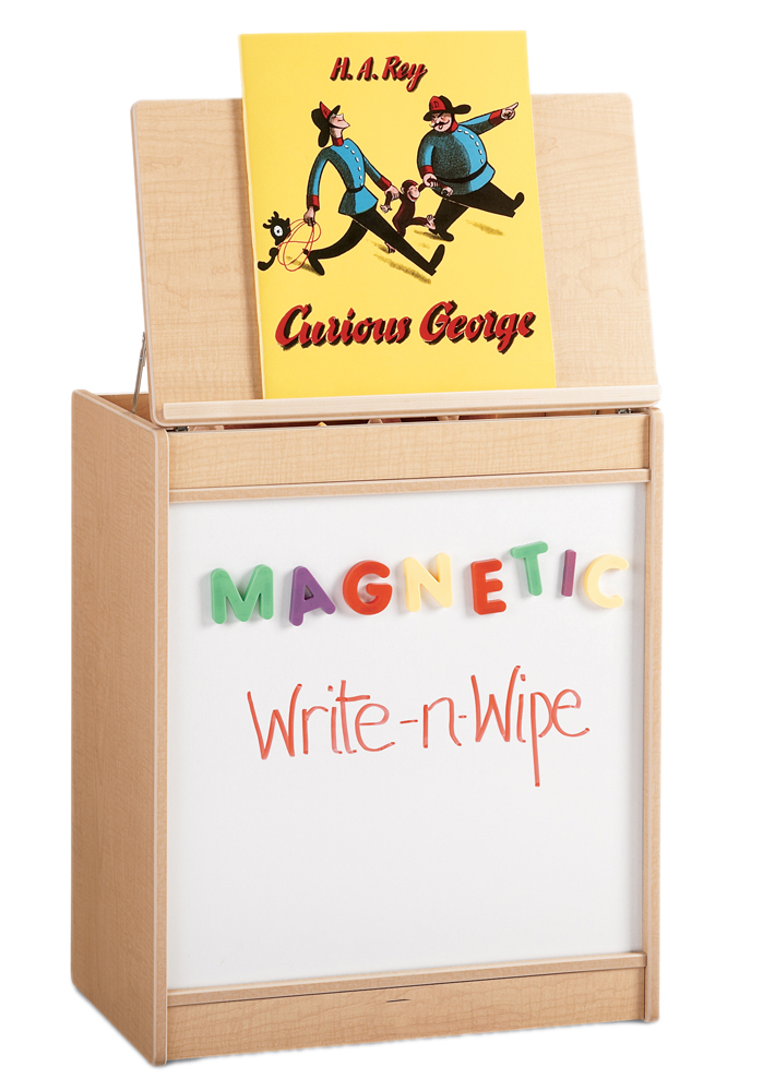 Offex Kids Big Book Easel with Magnetic Write-n-Wipe Board