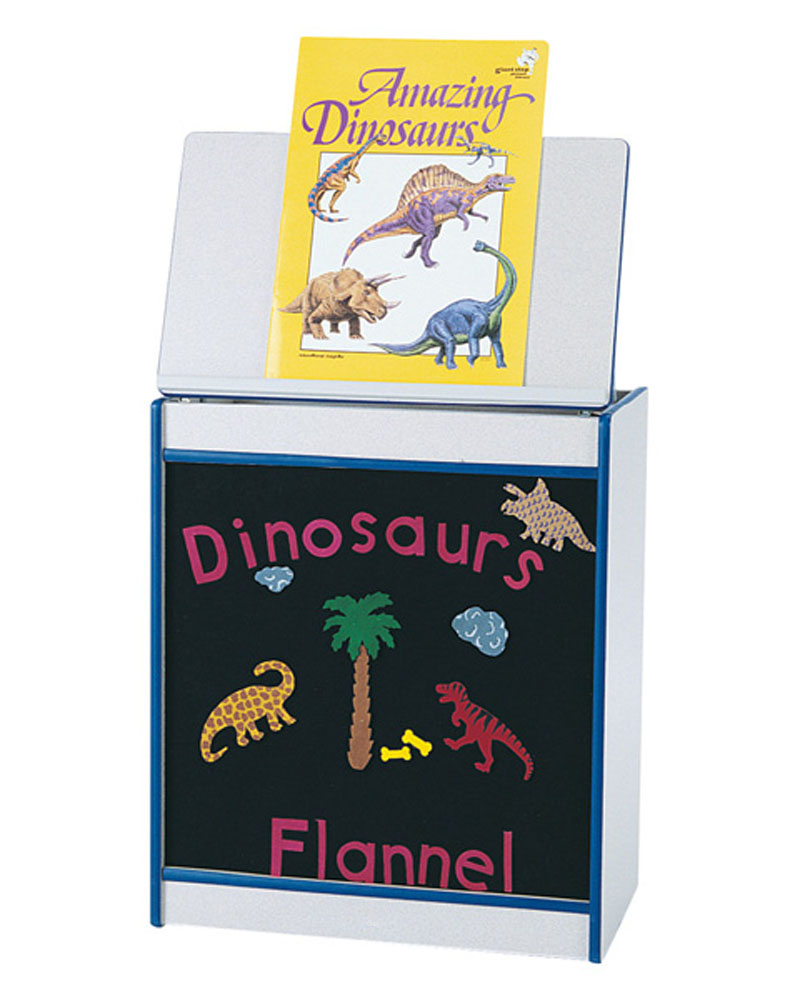 Offex Children Magazine Display Big Book Easel with Flannel Board - Navy