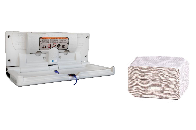 Karma Baby Bundled Kit - Horizontal Changing Station + Diaper Changing Station Liners - 500 Count