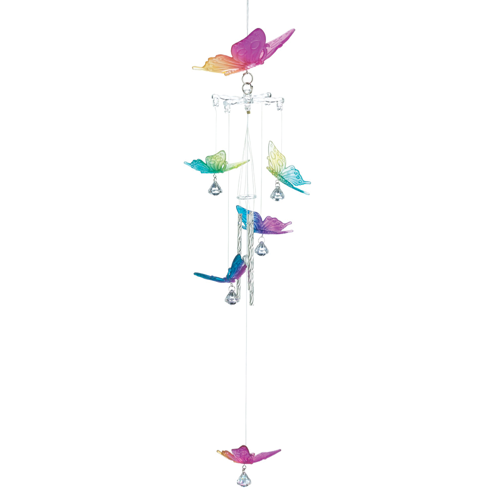 Koehlerhomedecor Rainbow Butterfly Outdoor Living Windchimes Garden Porch Yard Patio Christmas Decorative Accents at Sears.com