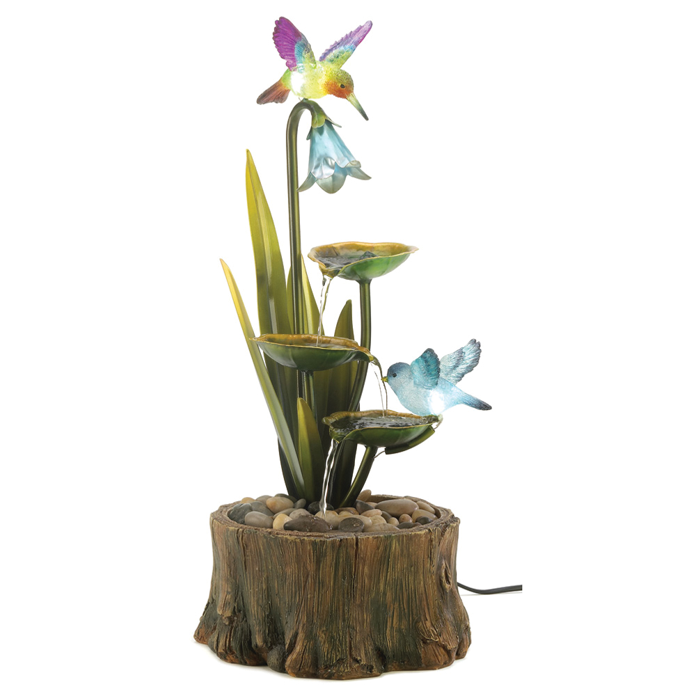 koehler Home Decor Home Indoor Outdoor Christmas Gift Decorative Garden Lawn Patio Hummingbird Haven Fountain at Sears.com