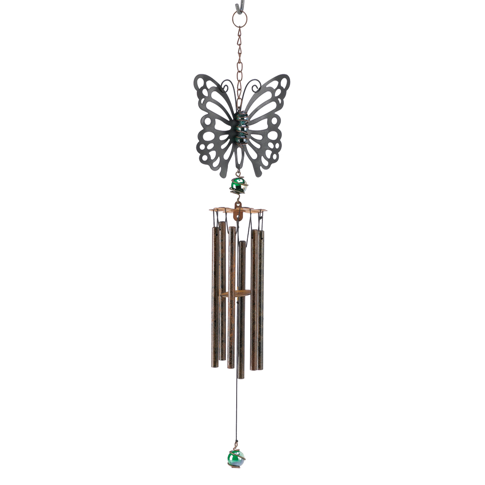 koehler Home Decor Home Indoor Outdoor Christmas Gift Decorative Garden Lawn Patio Wrought Iron Rustic Butterfly Windchime at Sears.com